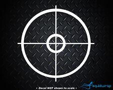 "Sniper Crosshairs Rifle Scope Car Decal / Laptop Sticker - WHITE 5"""