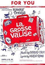 "Harold Rome ""LA GROSSE VALISE"" Victor Spinetti 1965 Musical FLOP Sheet Music"