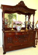 Antique Gorgeous Mahogany English Sideboard