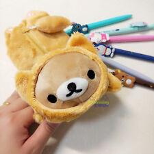 Cute Rilakkuma San-X Bear Pencil Box Ball-point Pen Bag School Kids Stationery