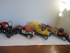 VINTAGE METAL TRUCKS, PEPSI COLA, ACE., TRUE VALUE. AND CONVERTIBLE BLACK CAR