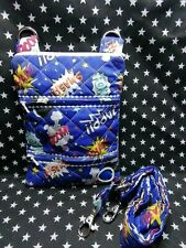 Dog walking  treat and  poo bag holder handmade pop art boom bang