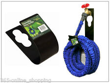 EXPANDING X HOSE METAL HOLDER GARDEN HOSEPIPE OUTDOOR HANGER TIDY 25 TO 100FT