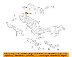FORD OEM Exhaust Manifold-Mnfd W/converter Nut W713095S437