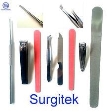 Acier Inoxydable Personnel Soin Des Ongles Set 8 Pièces Manucure Pédicure Kit
