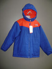 NWT THE NORTH FACE BOYS COAT BALLO JACKET size M 10 / 12 BLUE RED REVERSIBLE