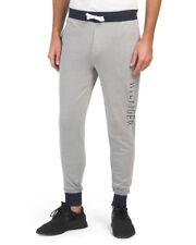 TOMMY HILFIGER Men's Pajama Lounge Pants Joggers French Terry Medium 32-34 Grey