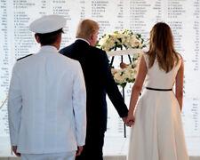 Donald Trump and Melania Trump UNSIGNED photo - K9279 - USS ARIZONA MEMORIAL