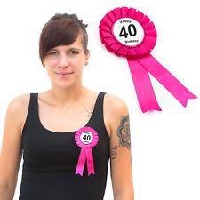 40. Geburtstag Birthday Button Brosche Pink Happy Birthday Feier