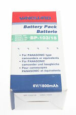 Vanguard BP-103/18 NiCD Videoakku 6 Volt/1800mAH für Panasonic NEU!