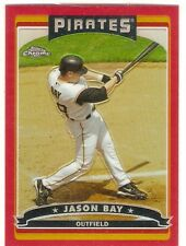 JASON BAY RED REFRACTOR 2006 TOPPS CHROME 132 SERIAL #/90 PITTSBURGH PIRATES