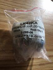 CR Lawrence Aluminum Chrome Glass Door Lock New LK42KA