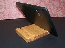 Iphone 6, 7, 8 dock Stand Holder Phone tablet  usa  oak wood Kindle Nook Ipad