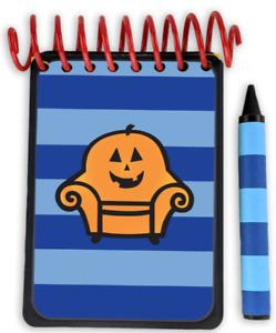 Handcrafted PUMPKIN Handy Dandy Notebook