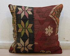 Handmade Kilim Pillow,Throw Pillow,Vintage Cushion Cover,20x20 inches Pillows