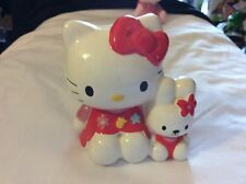 """4"""" vintage 2001 sanrio Hello Kitty and friends Ceramic Coin Bank"""