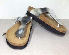 Papillio By Birkenstock Gizeh PAP Women's Sz 8 (EU39)Reg Silver Sandals X5-953*