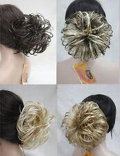 "Dome Wiglet Drawstring Ponytail 6"" Bun Cover Hair Pieces  4 color select"