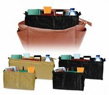 Organizador de bolso de mano con bolsillos de almacenamiento en negro o en beige
