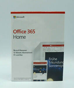 Microsoft© Office 365 Home 6 Personen 12-Monate Mac o. Windows DE NEU OVP