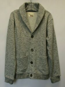 SOVERREIGN CODE Boys Heather Gray Long Sleeve Cotton Blend Cardigan - L 14/16