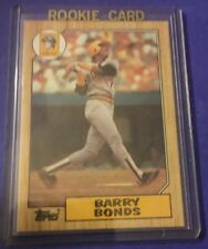1987 Topps Barry Bonds RC Pirates