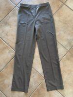 St John Black Label Womens Sz 8 Brown Dress Pants Flat Front Wool Rayon Lycra