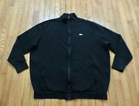 Lacoste Sport Heavyweight Deep Black Fleece Full Zip Jacket Men's Size 2XLB