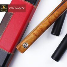 Enlighten One 1Piece Handmade Rosewood Red Snooker Pool Cue Case Set 9.3mm Tip