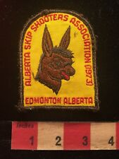 Vtg 1973 Edmonton Alberta Canada Skipshooters Assn Amateur Radio Patch Dog 81D2