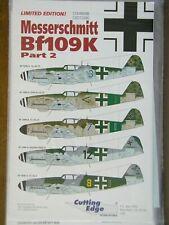 1/48 Cutting Edge MESSERSCHMITT Bf 109K Pt. 2 Decal w/Data Stencils 5 planes OOP