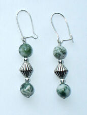 Hook Agate Silver Plated Fine Earrings