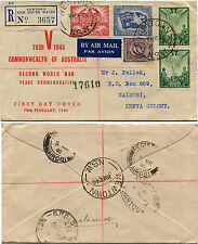 AUSTRALIA, FDC AIR MAIL COVER, ANNULS NEWTON NSW, FEB 1946, 5 STAMPS     m