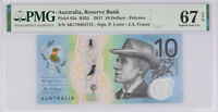Australia 10 Dollars 2017 P 63 a Superb Gem UNC PMG 67 EPQ New Label