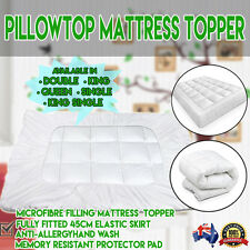 Pillowtop Matress Mattress Topper Memory Resistant Protector Pad Cover