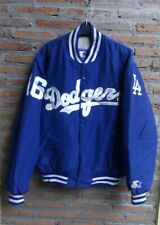 Vintage 90s STARTER Baseball Jacket LA DODGERS Hideo Nomo.  Large Size