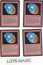 lot de x4 cartes Rukh Egg ARABIAN MAGIC MTG ENGLISH 1993 EX-NM PLAYSET