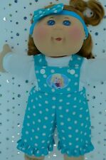 """PlaynWear Doll Clothes For 14"""" Cabbage Patch POLKA DOT BIB DUNGAREE~TOP~HEADBAND"""