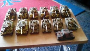 1/72 WW2 PAINTED GERMAN TANKS PANTHERS,PANZER IV , TIGERS ETC IN GOOD CONDITION