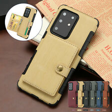 For Samsung S20 Ultra S10 Note10 S8 S9Plus Wallet Leather Case Card Holder Cover