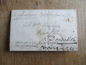 1836  PRE STAMP ENTIRE, FOCHABERS TOWN CANCEL, REDIRECTED SEE SCANS