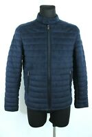 ZARA MAN BNWT 69 Navy Blue Zip Up Long Sleeve Quilted Jacket Size M