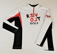 Men's White Golf Zippered Pullover sponsor logo Coolman, and Revolt Sport