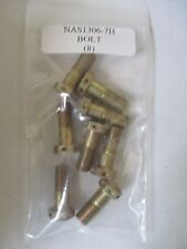 Nas1306 7h Bolt 38 24 X 1 Shear Drilled Head Plated Steel Lot Of 8