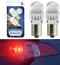 Philips Vision LED Light 1156 Rouge Red Two Bulbs Stop Brake Rear Replacement OE