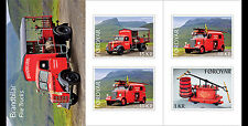 Faroer 2016 Brandweerwagens   Fire Trucks  postzegelboekje/booklet postfris/mnh
