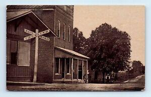 Flat Rock, IN Postcard- Railroad Crossing - unposted