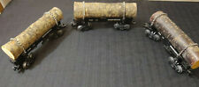 LOT OF 3~~Lionel O Scale Western Maryland Log Car REAL WOOD 19496 19497 19497