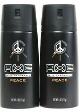 2 Count Axe 4 Oz Peace Keep You Smelling Great All Day & Night Daily Fragrance