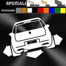 adesivo sticker fiat GRANDE PUNTO MK4 tuning down-out dub prespaziato,auto decal